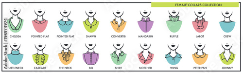 Foto Female collars for all kinds of tops collection