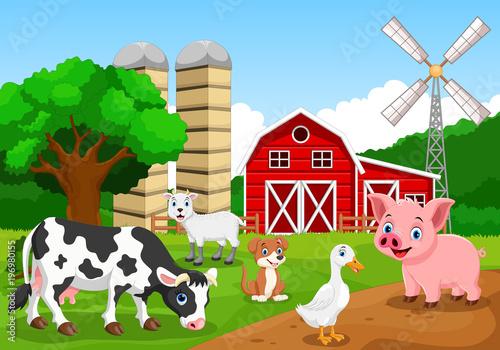 Photo Farm background with animals