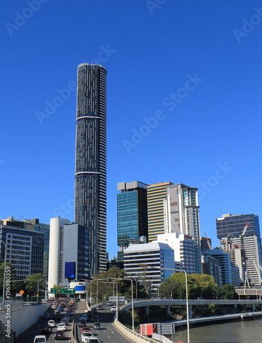 Foto op Canvas Australië Brisbane cityscape and traffic jam Australia
