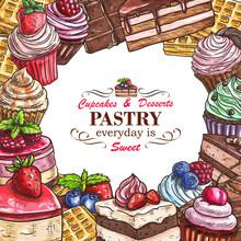 Vector Desserts Pastry Shop Sk...