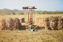 A Game Of Croquet Ready For Gu...
