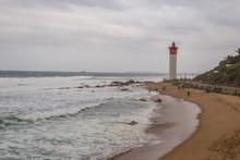Stormy Lighthouse Beach