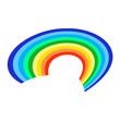 Rainbow icon on a white background. Flat vector illustration EPS