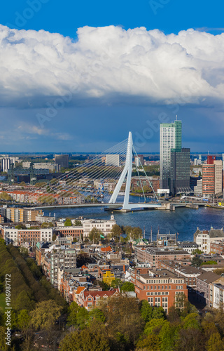 Deurstickers Rotterdam Rotterdam cityscape - Netherlands