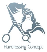 Hairdresser Hair Salon Scissor...