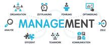 MANAGEMENT Vektor Grafik Icons...