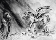 Drawing Of Pale Horse Of The A...