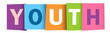 YOUTH colourful letters icon