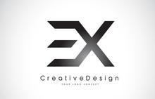 EX E X Letter Logo Design. Creative Icon Modern Letters Vector Logo.