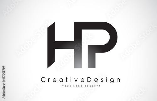 hp h p letter logo design creative icon modern letters vector logo