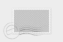 Briefmarke Mit Stempel Isoliert