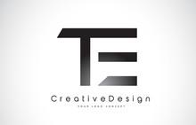 TE T E Letter Logo Design. Creative Icon Modern Letters Vector Logo.