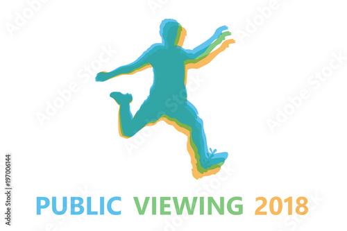 Silhouette Fussballspieler Public Viewing 2018 Buy This