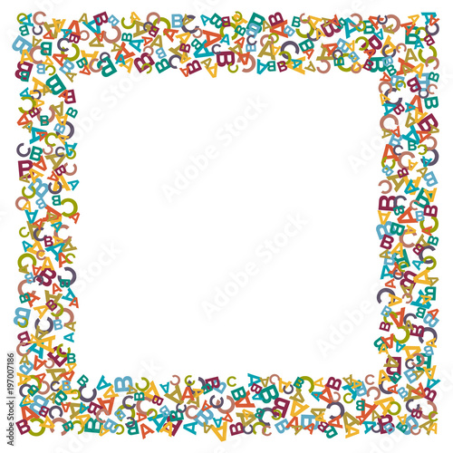 Vector Colorful Text Box Made From Alphabet Symbols Letters Or