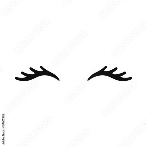 photo about Unicorn Eyelashes Printable called Vector unicorn eyelashes. Shut eyes. Vector icon. - Get