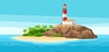 Illustration Of Lighthouse On ...