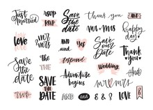Set Of Creative Wedding Letter...