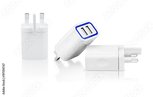 Amazing combo pack of power adapter and highlighted with blue mark