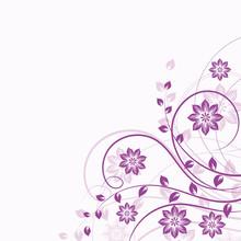 Floral Background In Violet