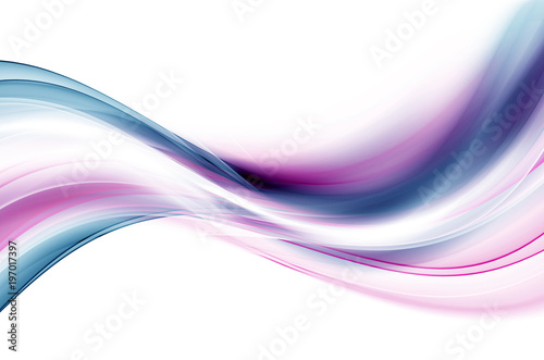 Deurstickers Fractal waves Design element creative graphic template.