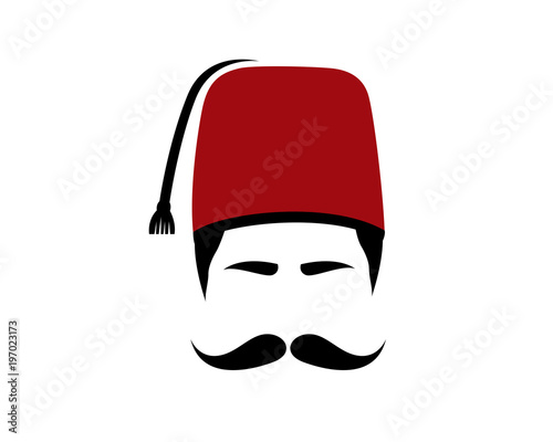 Fotomural Turkish, Fez, Moustache and Turkish Hat