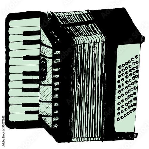 grunge-retro-akordeon-instrument-muzyczny