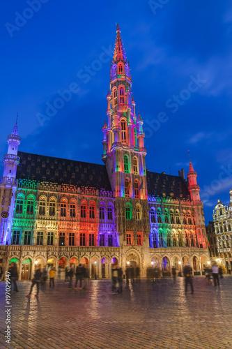 Foto op Canvas Brussel Grote Markt in Brussels Belgium