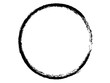 Grunge circle made with paint.Grunge element for your design.