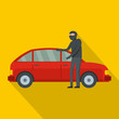 Hijacker icon. Flat illustration of hijacker vector icon for web