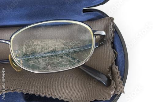 Fotografie, Obraz  傷ついた眼鏡レンズ