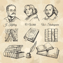 English Famous Writers And Different Books