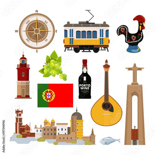 Foto  Historical symbols of Portugal Lissabon
