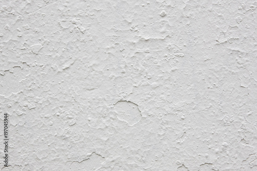 Foto op Aluminium Wand Damaged textured white wall. Cracked material. Construction