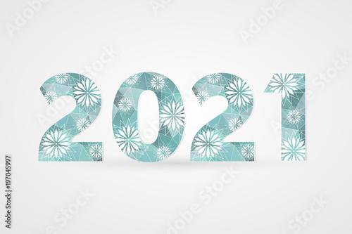 Fotografia  2021 Happy New Year vector illustration
