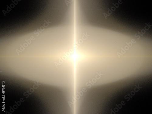 Fototapeta image of one Digital Fractal on Black Color obraz na płótnie