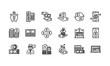 Leinwandbild Motiv Banking and finance icons set 2