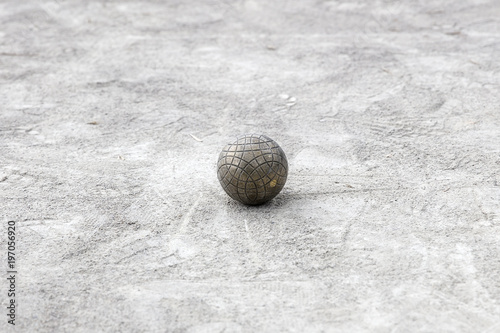 фотографія  Bocce ball on the ground