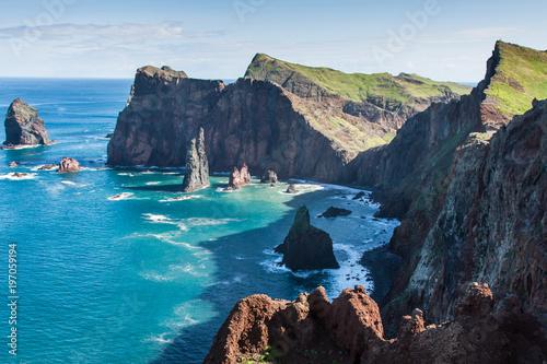 Montage in der Fensternische Blau Jeans East coast of Madeira island ? Ponta de Sao Lourenco