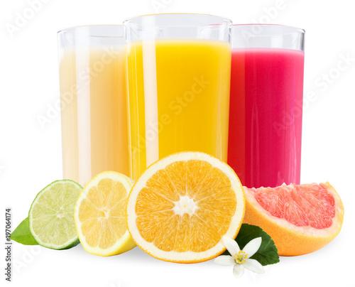 Poster Sap Saft im Glas Fruchtsaft Früchte Frucht isoliert freigestellt Freisteller