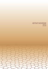 Background Pattern Of Uneven Polygons, Infinity, Desert, Scorched Steppe, Futuristic Grid. Vector Illustration With Hexagons.