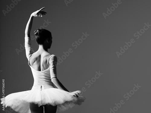 Young beautiful ballerina is posing in studio Fototapet