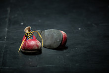 Clown Old Red Shoes Isolated O...