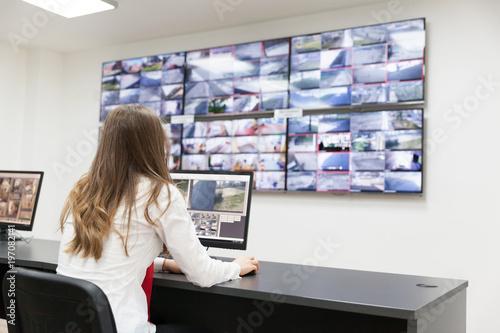 Video surveillance. Control room operator.