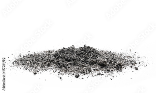 cigarette ash isolated on white background, texture Canvas Print