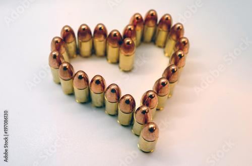 heart shaped bullets Wallpaper Mural