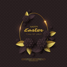 Happy Easter Greeting Card. Pa...