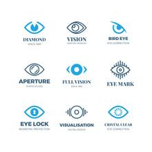 Magic Eye Logos. Mysterious Si...