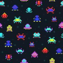 Cute Pixel Robots, Space Invad...