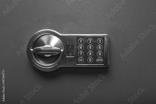 Fototapeta Code lock on the safe door. obraz