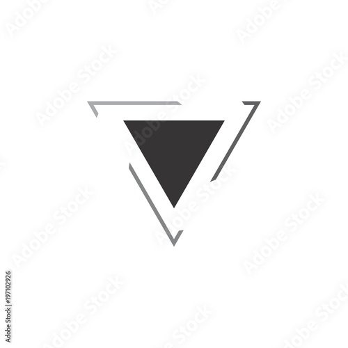 Fotomural triangle logo vector